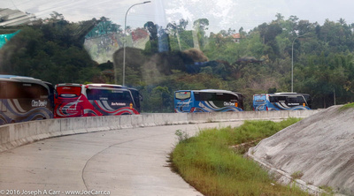 Our bus convoy