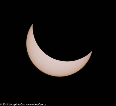 Partially eclipsed Sun between 1st & 2nd Contact