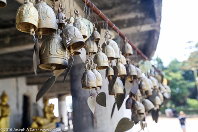 Thai bells blowing in the wind