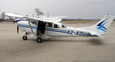 Our aircraft to take us to the next camp