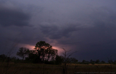Lightning and thunder just before dawn this morning