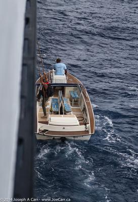 Pilot leaves the ship