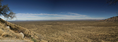 A panorama of the plains to the north of Kitt Peak
