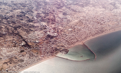 Seeb harbour from the air