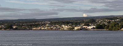Downtown Hilo from Hilo Bay at sunrise