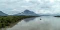Mount Santubong from the Santubong River bridge