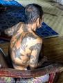 Tattooed old man