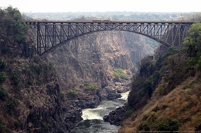 The bridge over the Zambeze river between Zambia & Zimbabwe