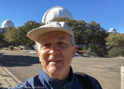 Joe atop Kitt Peak at the Visitor Center plaza