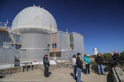 A sparse tour group for the morning tour of the 2.1 meter telescope