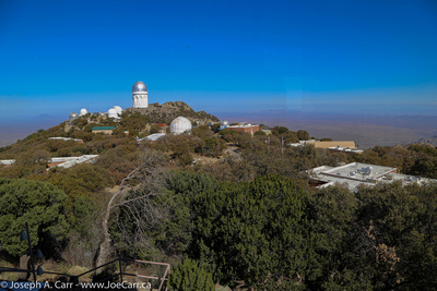 Looking north along the ridge line to Kitt Peak summit