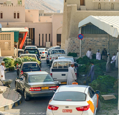 Traffic congestion in the souq