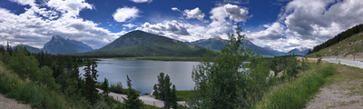 Vermilion Lakes with Mount Rundle, Sundance Peak,  Mount Howard Douglas & Massive Peak