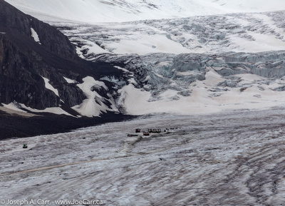 Sightseers on the Columbia Icefield