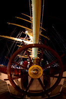 The stern wheel, booms and masts