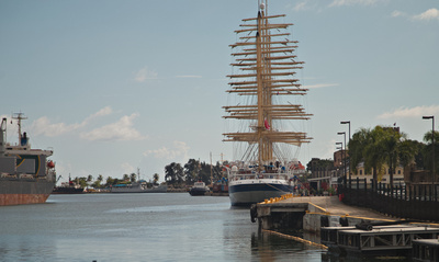 The Royal Clipper docked