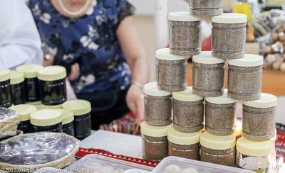 Jars of Omani honey - two kinds - black and grainy