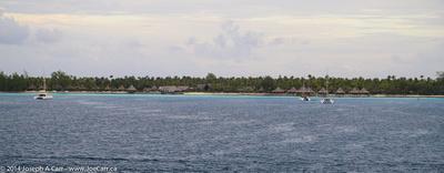 Sailboats and resort at Avatoru
