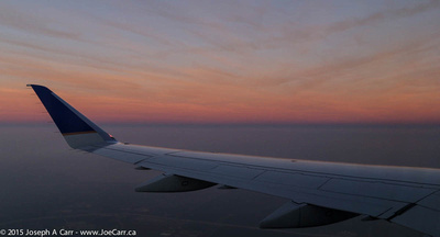 Shadow of the Earth and Belt of Venus over the wing