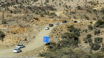The steep road to Jebel Shams