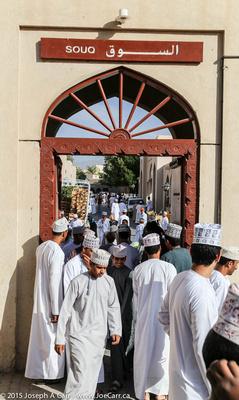 Omani men in the souq