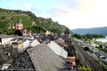 The town of Bacharach and the rail line