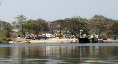 Crossing the Zambezi River between Kazungula and Kasane