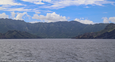 Leaving Taiohae harbour and Nuku Hiva