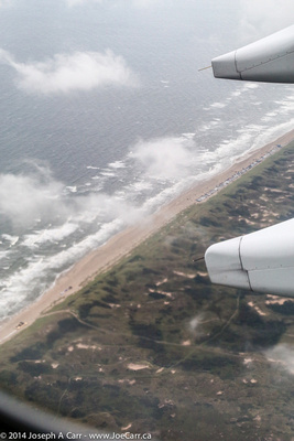 Ocean shoreline - final approach to Schiphol airport