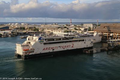 Aremiti Ferry arriving