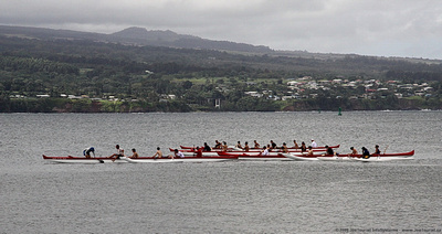 Rowers in Hilo Bay