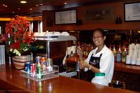 The Explorations Espresso Bar aboard Volendam